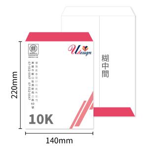 10K中式信封印刷-糊中間