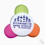 廣告花瓣三色螢光筆印刷-優聯廣告筆工廠